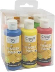 Vingerverf Creall uitwasbaar Happy Ingredients 6 kleuren à 80ml
