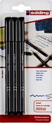 Fineliner edding 1200 1mm blister à 3 stuks zwart