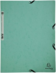 Elastomap Exacompta Aquarel 3-kleps A4 glanskarton groen