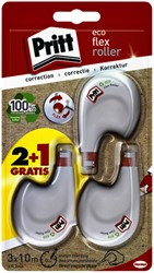 Correctieroller Pritt 4.2mmx10m eco flex blister 2+1 gratis