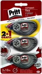 Correctieroller Pritt compact flex 6mm x 10m blister 2+1 gratis