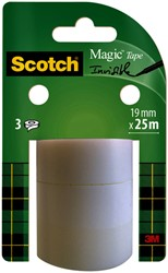 Plakband Scotch Magic 19mmx25m onzichtbaar