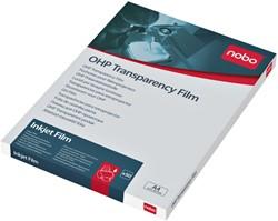 Overheadprojector transparanten Nobo voor inkjetprinters 50 stuks