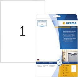 Etiket Herma 4866 210x297mm A4 folie 10st wit