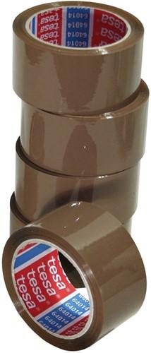 Verpakkingstape Tesa 64014 50mmx66m bruin PP