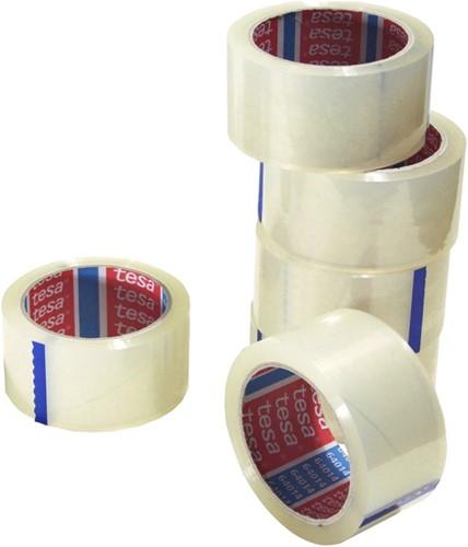 Verpakkingstape Tesa 64014 50mmx66m transparant PP