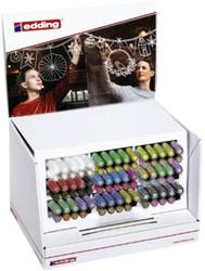 Krijtstift  edding  by Securit 4085 rond 1-2mm display à 82 stuks assorti