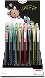Gelschrijver Pentel K110 Dual Metallic display à 8 kleuren