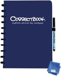 Notitieboek Correctbook A4 blanco 40blz midnight blue