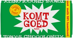 "Chocolade Tony's Chocolonely reep 180gr melk noga ""Blij met jou"""