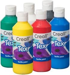 Textielverf Creall TEX 250ml set à 6 kleuren