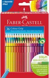 Kleurpotloden Faber Castell Grip set à 36 stuks assorti