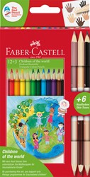 Kleurpotloden Faber Castell driekant set à 12+3 stuks assorti
