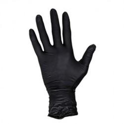 Handschoen Masterglove nitril S zwart 100 stuks