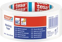 Markeringstape Tesa 60760 PVC 50mmx33m wit