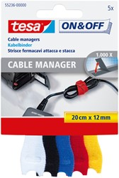 Kabelmanager Tesa On&Off 55236 12mmx20cm assorti