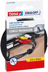 Kabelmanager Tesa On&Off 55239 10mmx5m zwart