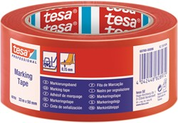 Markeringstape Tesa 60760 PVC 50mmx33m rood