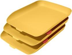 Brievenbak Leitz Cosy 3 stuks geel