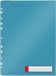 Insteekmap U-model Leitz Cosy harmonica A4 met perforatiestrip PP blauw