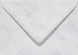 Envelop Papicolor EA5 156x220mm marmer grijswit
