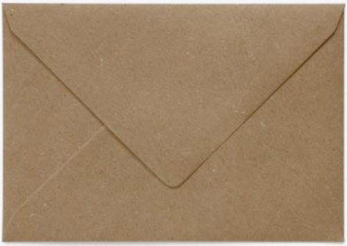 Envelop Papicolor EA5 156x220mm recycled kraft bruin