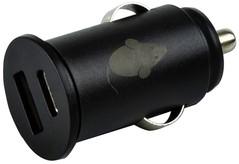 Autolader Green Mouse USB-A 1x USB-C 1x 2.4A zwart