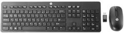 Toetsenbord en muis HP QWERTY draadloos zwart