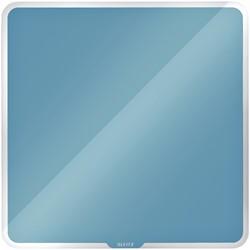 Glasbord Leitz Cosy magnetisch 450x450mm blauw