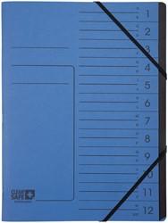 Sorteermap Exacompta Clean'Safe 12-vakken blauw