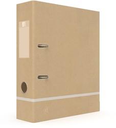 Ordner Oxford Touareg A4 80mm karton naturel/wit
