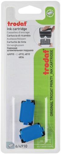 Stempelkussen Trodat 6/4910 2 stuks blauw
