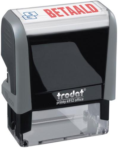 Tekststempel Trodat Printy 4912 betaald blauw rood