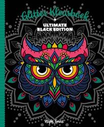 Kleurboek Interstat volwassenen glitter black edition night flowers