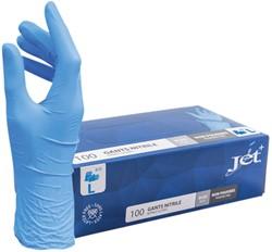 Handschoen Euro nitril L blauw doos à 100 stuks
