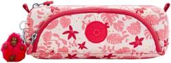 Etui Kipling Cute Pink Leaves