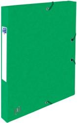 Elastobox Oxford Top File+ A4 25mm groen