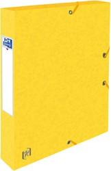 Elastobox Oxford Top File+ A4 40mm geel