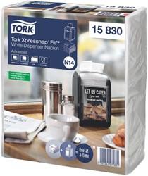 Servetten Tork 15830 Xpressnap Fit voor dispenser 21.3×16.5 wit 720stuks