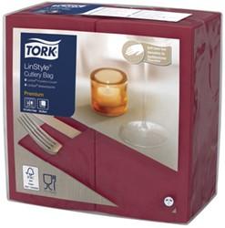 Servetten Tork 509603 LinStyle Pochette donkerrood burgundy 19.5x9.8cm 50stuks
