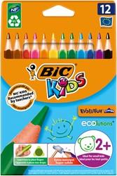 Kleurpotloden Bic Kids Evolution Triangle etui à 12 kleuren