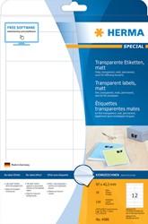 Etiket Herma 4586 97x42.3mm weerbestendig 120stuks transparant mat