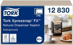 Servetten Tork Xpressnap Fit 21.3×16.5 naturel 720st