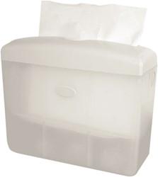 Dispenser Euro tafelmodel multifold handdoeken wit