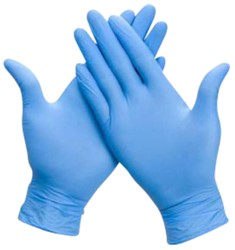 Handschoen Comfort nitril S blauw 100 stuks