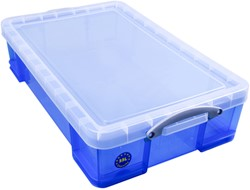 Opbergbox Really Useful 33 liter 480x390x310 mm transparant blauw