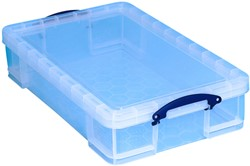 Opbergbox Really Useful 33 liter 710x440x165 mm transparant wit