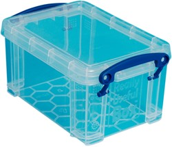 Opbergbox Really Useful 0.7 liter 155x100x80 mm transparant wit