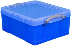 Opbergbox Really Useful 18 liter 480x390x200 mm transparant blauw
