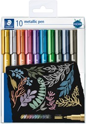 Gelpen Staedtler metallic etui à 10 kleuren